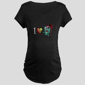 I <3 Double Taps Maternity Dark T-Shirt