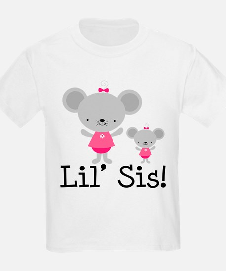 Little Sister Pink Mouse T-Shirt