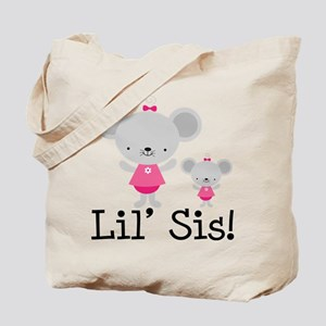 Little Sister Pink Mouse Tote Bag