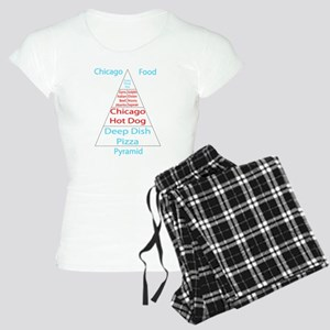 Chicago Food Pyramid Women's Light Pajamas