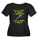 Not A Drill Women's Plus Size Scoop Neck Dark T-Sh