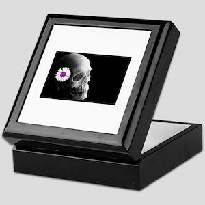 Purple Daisy Skull Keepsake Box