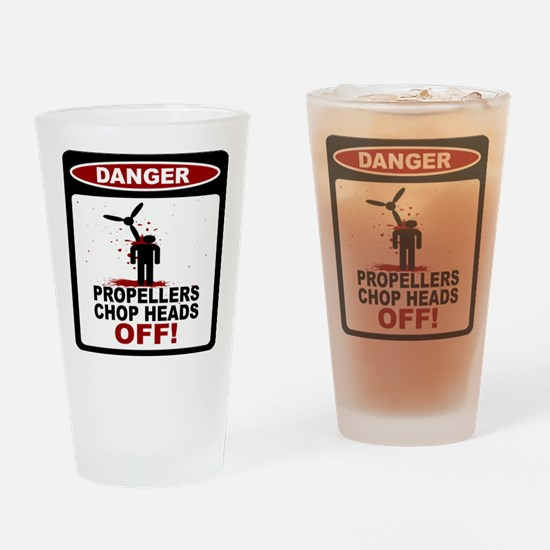 Skydiver - Propeller Accident Drinking Glass