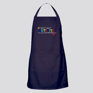 "Don't ""Seem"" Autistic? (Self) Apron (dark)"