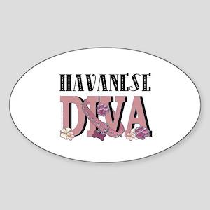 Havanese DIVA Sticker (Oval)