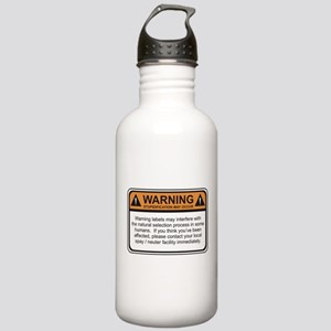 Warning Label Stainless Water Bottle 1.0L
