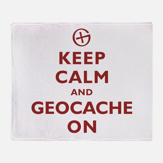 Keep Calm and Geocache On Throw Blanket