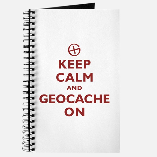 Keep Calm and Geocache On Journal