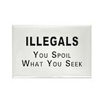 Illegals Spoil America! Rectangle Magnet (10 pack)
