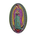 15 Lady of Guadalupe 22x14 Oval Wall Peel