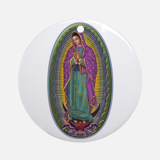 15 Lady of Guadalupe Ornament (Round)