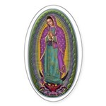 15 Lady of Guadalupe Sticker (Oval)