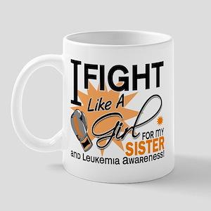 Fight Like a Girl Leukemia Mug