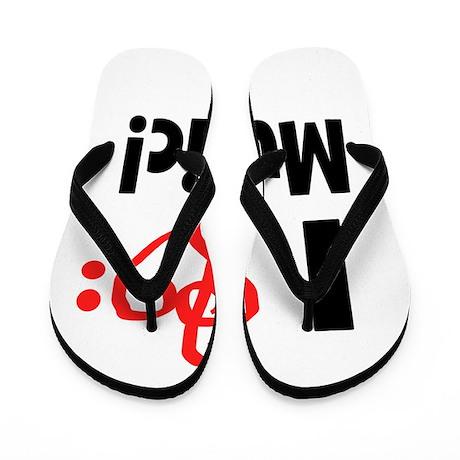 I Love Music Flip Flops