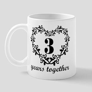 3rd Anniversary Heart Mug