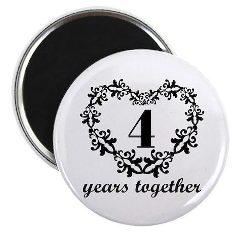 4th Anniversary Heart Magnet