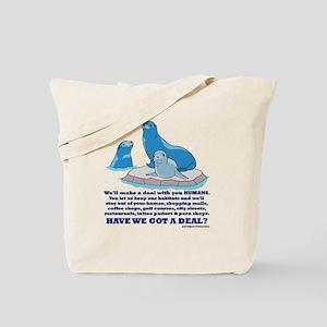 'Harbor Seals vs Humans' Tote Bag