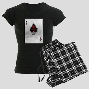 Ace of Spades Women's Dark Pajamas