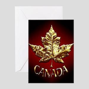 Gold Canada Souvenir Greeting Cards