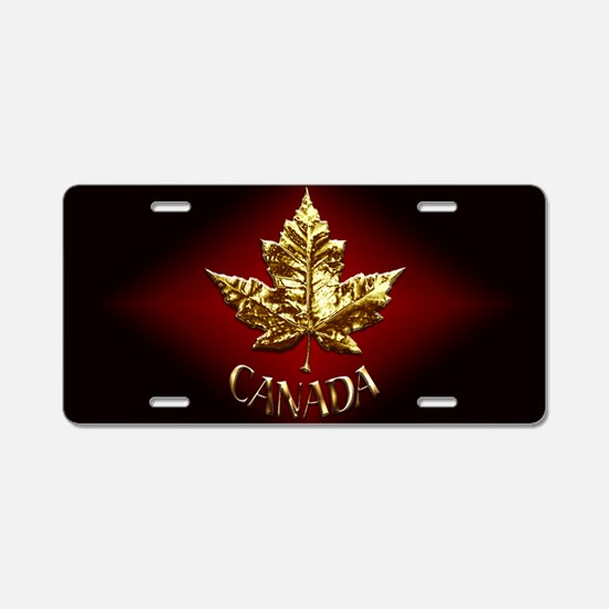 Gold Canada Souvenir Aluminum License Plate