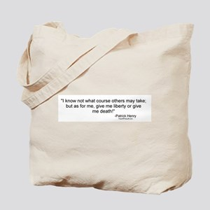 Henry: Liberty or death! Tote Bag