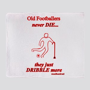 Old Footballers Throw Blanket