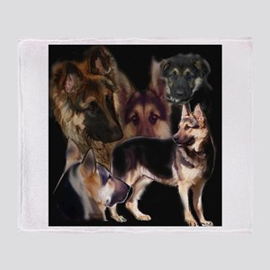 GSD collage Throw Blanket