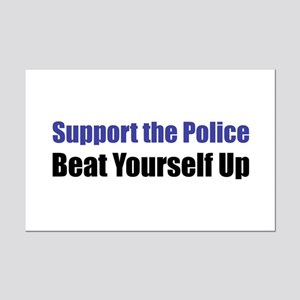 Support the Police Mini Poster Print