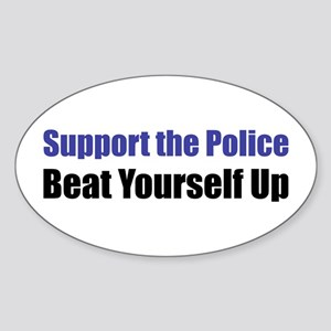 Support the Police Oval Sticker