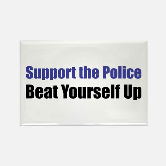 Support the Police Rectangle Magnet