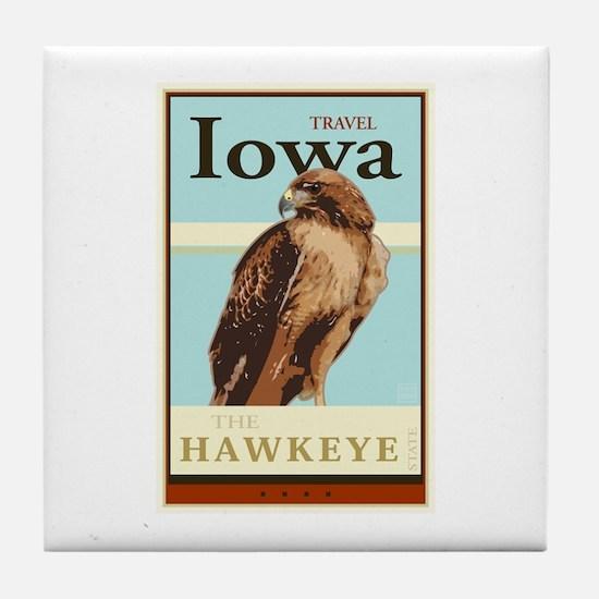 Travel Iowa Tile Coaster