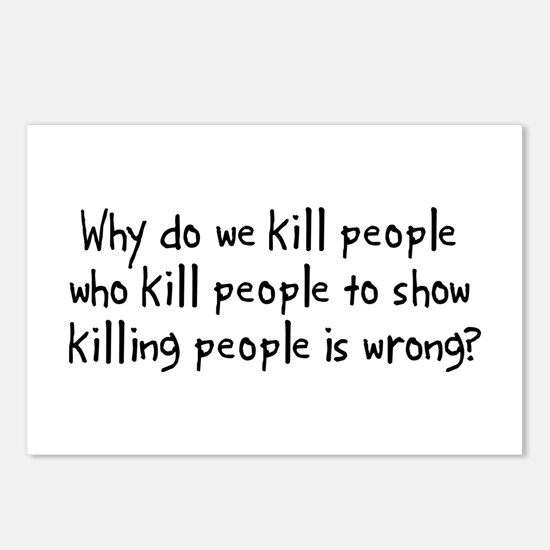 Why Do We Kill Postcards (Package of 8)