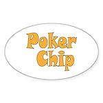 Poker Chip Sticker (Oval 50 pk)