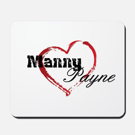 Abstract Heart Mousepad - Manny and Payne