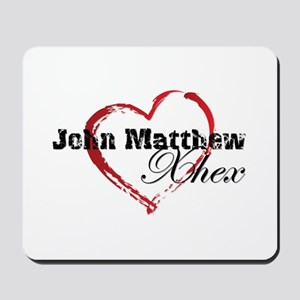 Abstract Heart Mousepad - John Matthew and Xhex