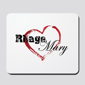 Abstract Heart Mousepad - Rhage and Mary