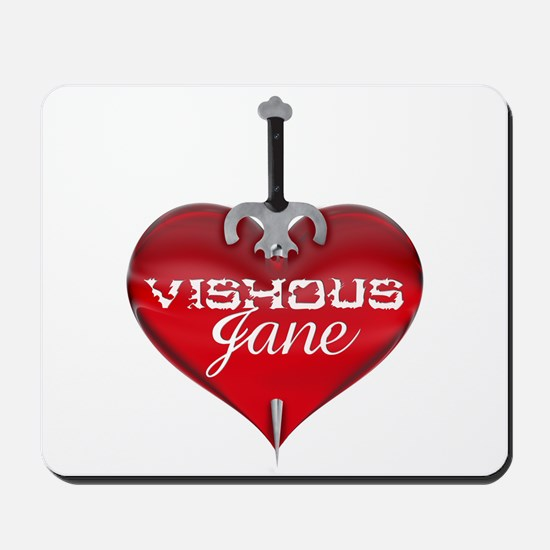 Classic Heart Mousepad - Vishous and Jane