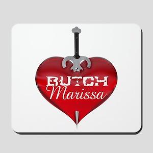 Classic Heart Mousepad - Butch and Marissa