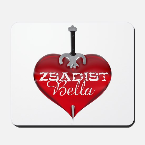 Classic Heart Mousepad - Zsadist and Bella
