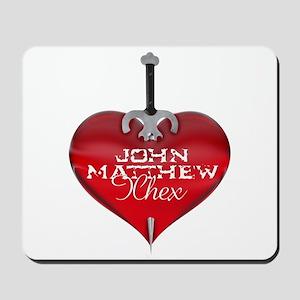 Classic Heart Mousepad - John Matthew and Xhex