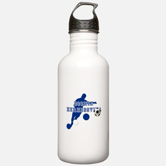 Bosnia Football Player Water Bottle