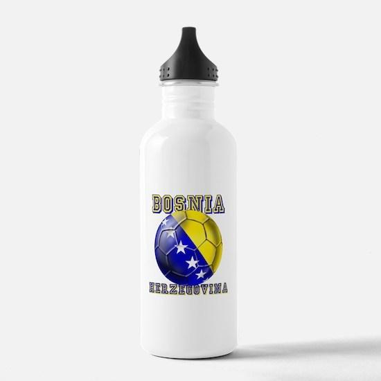 Bosnian Football Water Bottle
