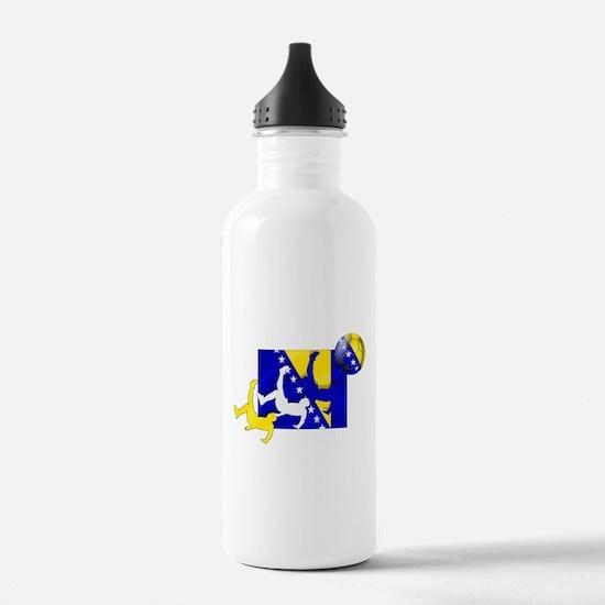 Bosnia Soccer Water Bottle