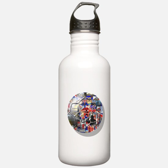 British Culture Footba Water Bottle