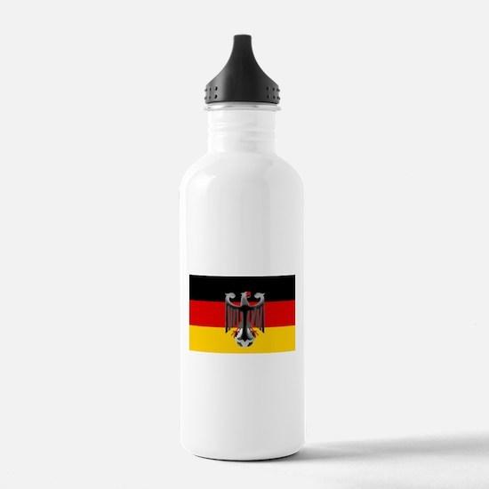 German Soccer Flag Water Bottle