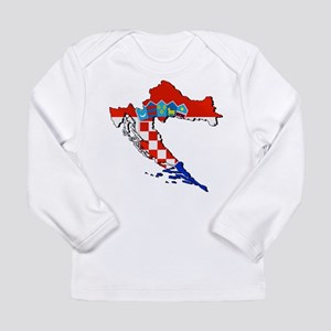 Croatia Map Long Sleeve Infant T-Shirt