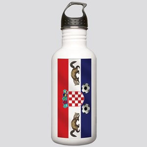 Croatian Football Flag Stainless Water Bottle 1.0L