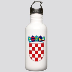 Croatia Hrvatska Emblem Stainless Water Bottle 1.0