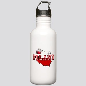Polish Flag Map Stainless Water Bottle 1.0L