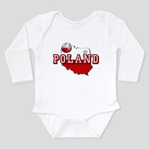 Polish Flag Map Long Sleeve Infant Bodysuit